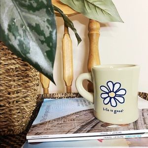 NWOT Life is good flower mug